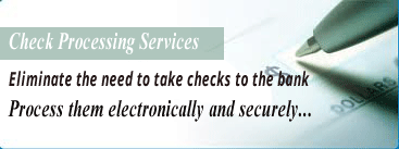 Check Processing Outsourcing Services