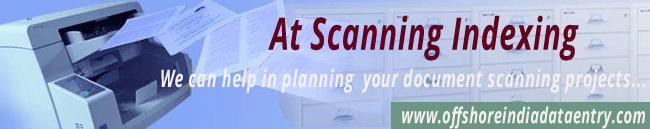 Offshore Scanning and Indexing Services